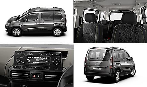 Peugeot all-new Rifter Active in Cumulus Grey Collage
