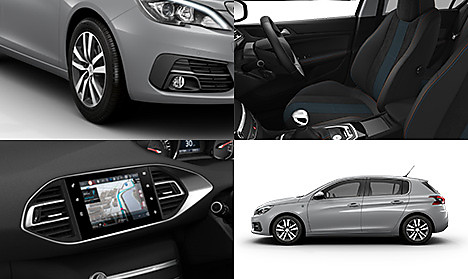 Peugeot 308 Tech Edition in Cumulus Grey Collage