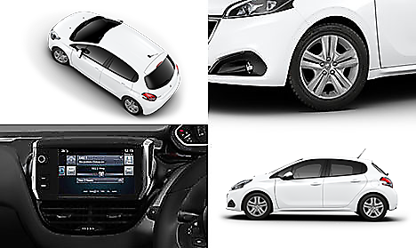 Peugeot 208 Active in Bianca White Collage