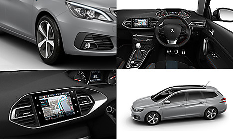 Peugeot 308 SW Tech Edition in Cumulus Grey Collage