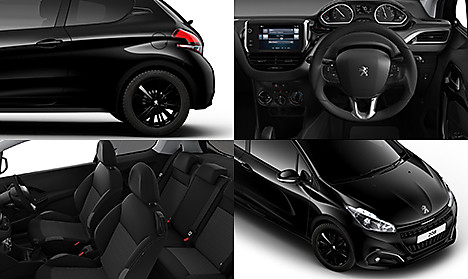 Peugeot 208 Black Edition Collage