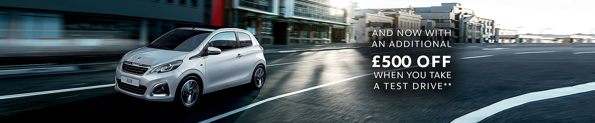 1920 Peugeot 108 TOP! save £500 Drive Test Customer Saving