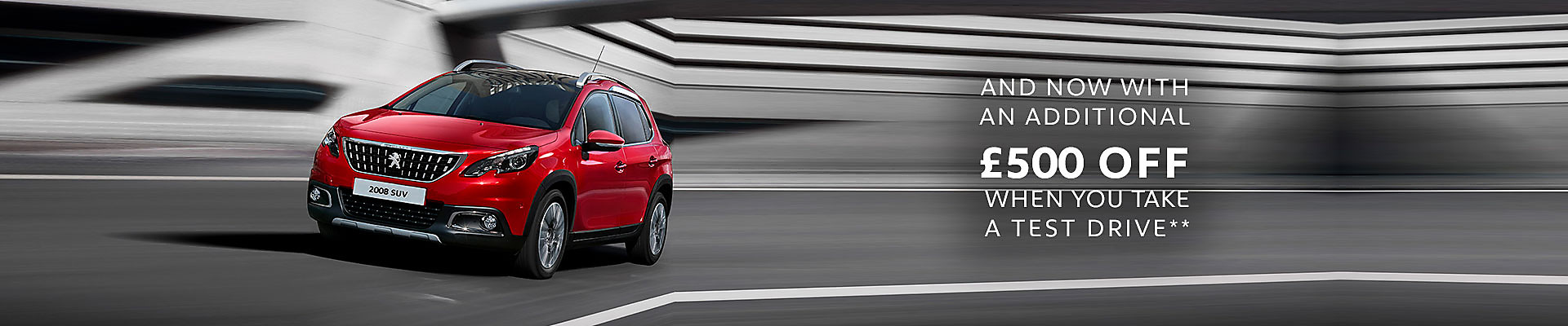 1920 Peugeot 2008 SUV save £500 Drive Test Customer Saving