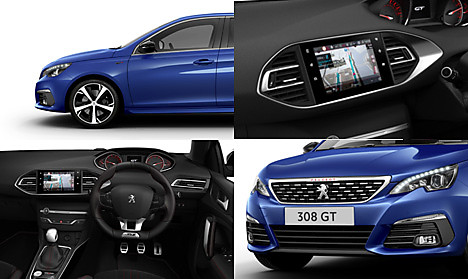 Peugeot New 308 GT Collage