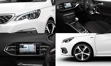 Peugeot New 308 GT Line Collage