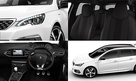Peugeot New 308 SW GT Line Collage