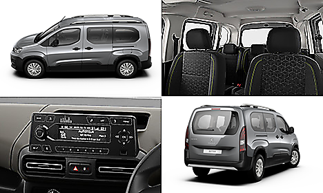 Peugeot all-new Rifter Active Long in Cumulus Grey Collage