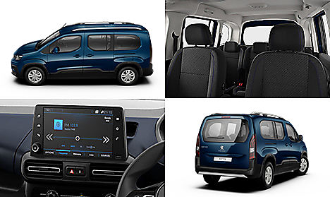 Peugeot all-new Rifter Allure Long in Deep Blue Collage