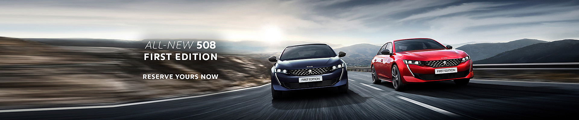 Peugeot All-new 508 First Edition in Ultimate Red and Twilight Blue