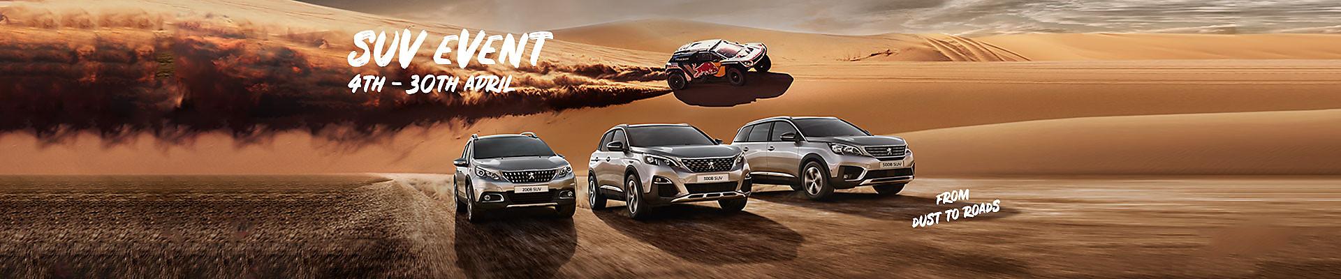 Peugeot SUV Range - Peugeot 2008 SUV, Peugeot 3008 SUV and Peugeot New 5008 SUV