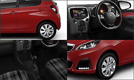 Peugeot 108 Active in Laser Red