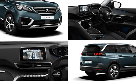 Peugeot New 5008 SUV Allure Collage