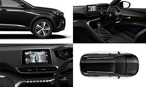 Peugeot New 5008 SUV GT Line Collage