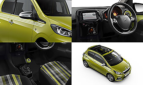 Peugeot 108 TOP! Collection in Green Fizz