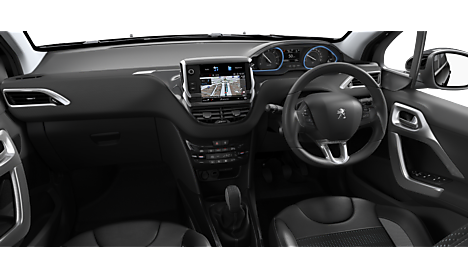 Peugeot 2008 SUV Allure Premium Interior in Nera Black