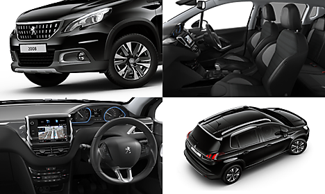 Peugeot 2008 SUV Allure Premium Collage in Nera Black